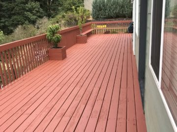 deck patio staining painting salem oregon